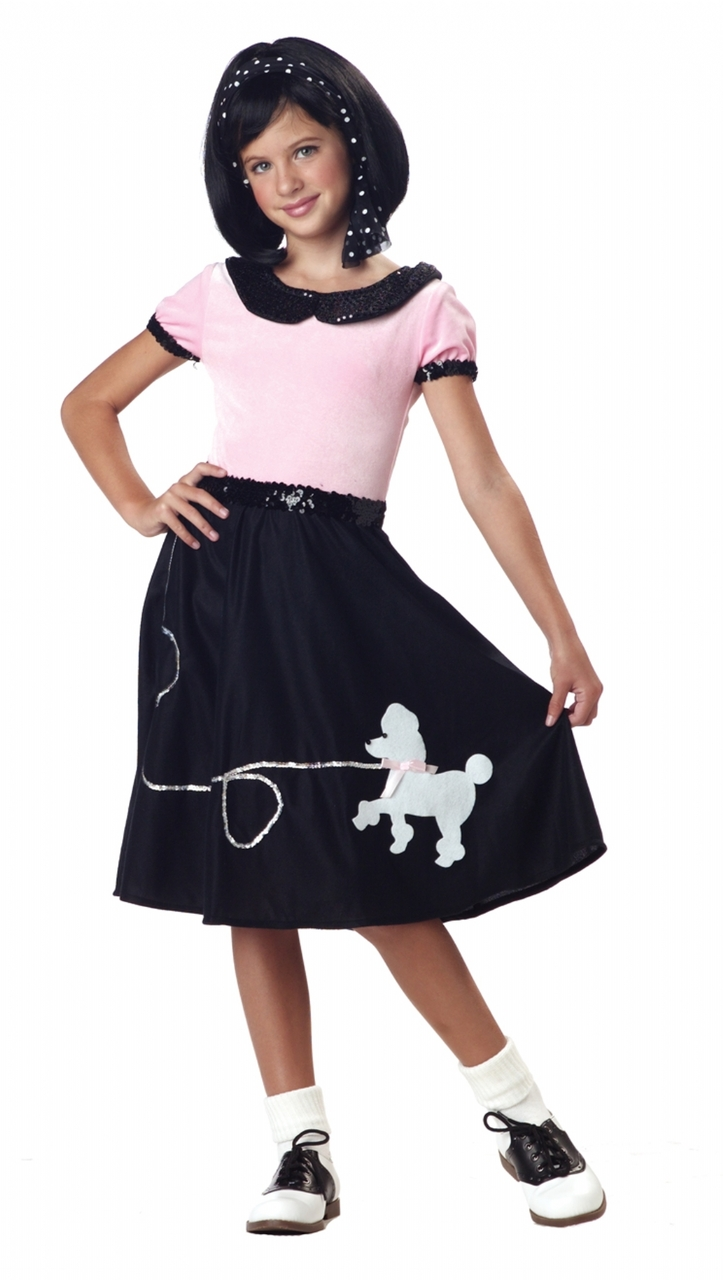 301e002f8902 50s Hop Girls Poodle Skirt Costume - The Costume Shoppe
