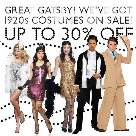 Gatsby, 20s, Flapper, Gangster Costumes on Sale!