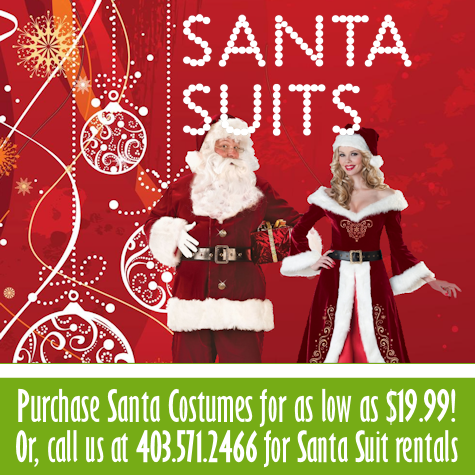 Santa & Mrs. Clause Costumes for purchase & for rent!