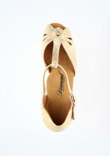 Chaussure de Danse Latine & Salon Diamant Ivonne 4cm Or #2. [Or]