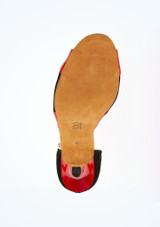 Chaussure de Danse Diamant Manni 7,5cm Noir-Rouge #3. [Noir-Rouge]