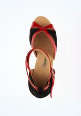 Chaussure de Danse Diamant Manni 7,5cm Noir-Rouge #2. [Noir-Rouge]