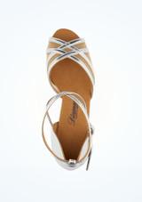 Chaussure de Danse Latine & Salsa Diamant Remi 5cm Argent #2. [Argent]
