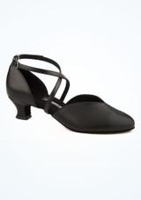 Chaussures danse de salon extra larges Diamant  4.2 cm- noir image principale. [Noir]
