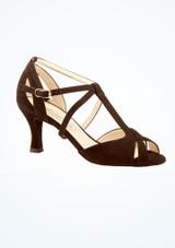 Chaussures de danse bout ouvert Francis Werner Kern 6,35 cm Noir image principale. [Noir]