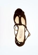 Chaussures de danse bout ouvert Francis Werner Kern 6,35 cm Noir superieure. [Noir]