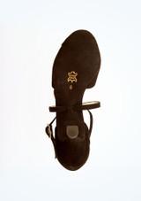 Chaussures de danse bout ouvert Francis Werner Kern 6,35 cm Noir semelle. [Noir]