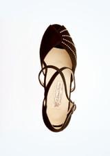 Chaussures danse de salon confort strass Werner Kern 4,5 cm Noir semelle. [Noir]