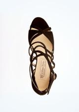 Chaussures de danse en daim Eva Werner Kern 5,6 cm Noir superieure. [Noir]