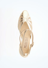 Chaussures de danse latine argentees Linda Werner Kern 6,35 cm superieure. [Argent]