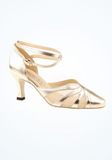 Chaussures de danse latine argentees Linda Werner Kern 6,35 cm image principale. [Argent]