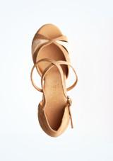 Chaussures de danse Margot Rummos 7,6 cm Marron superieure. [Marron]