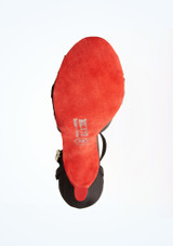 Chaussures de danse Poppy Rummos 7 cm Noir-Rouge superieure. [Noir-Rouge]