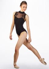 Justaucorps dentelle Ballet Rosa Noir avant. [Noir]