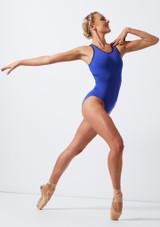 Justaucorps croise dans le dos Move Dance Focus Bleue avant. [Bleue]
