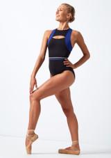 Justaucorps a decoupes dans le dos Move Dance Strength Bleue avant. [Bleue]