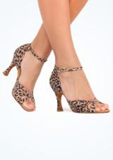 Chaussure de Danse  Salsa & Tango Rummos Leopard 7,5cm Multicolore #2. [Multicolore]
