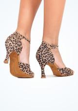 Chaussure de Danse  Salsa & Tango Rummos Leopard 7,5cm Multicolore #3. [Multicolore]