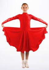 Robe danse de salon pour filles Move Saskia Rouge. [Rouge]