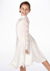 Robe danse de salon pour filles Move Saskia Blanc. [Blanc]