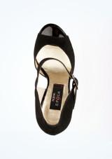 Chaussure de Danse Salsa Nueva Epoca Nora 9cm Noir #2. [Noir]