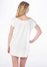 T-shirt Imprime Chaussures de Pointes So Danca Blanc #2. [Blanc]
