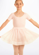Jupe de danse voile a pois Tappers & Pointers Rose. [Rose]