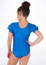 Justaucorps Brillant pour filles Alegra Rosalie Bleue arriere. [Bleue]