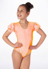 Justaucorps Brillant pour filles Alegra Rosalie Orange avant. [Orange]