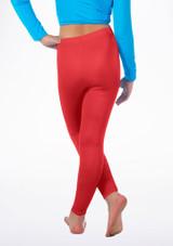Leggings Sans Pied Brillant Alegra pour filles Rouge arriere #2. [Rouge]
