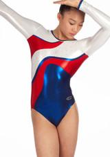 Justaucorps de gymnastique a manches longues pour filles The Zone Merit Rouge. [Rouge]