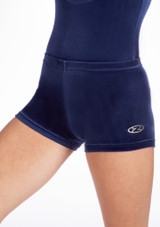 Short en Velours Taille Basse The Zone Bleue. [Bleue]