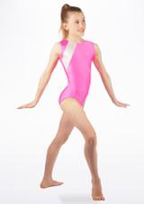 Justaucorps de gymnastique sans manches Anthem pour filles Alegra Rose avant. [Rose]