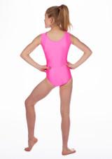 Justaucorps de gymnastique sans manches Anthem pour filles Alegra Rose arriere. [Rose]