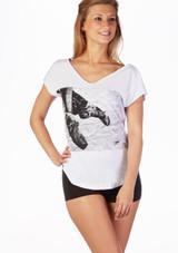 T-shirt de Danse So Danca Blanc. [Blanc]