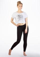 T-shirt de danse court So Danca Blanc avant. [Blanc]