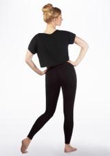 T-shirt de danse court So Danca Noir arriere.