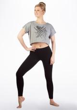 T-shirt de danse court So Danca Gris avant. [Gris]