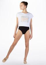 T-shirt court de danse pour enfant So Danca Blanc avant. [Blanc]