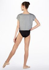 T-shirt court de danse pour enfant So Danca Gris arriere. [Gris]