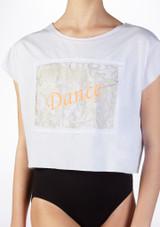 T-shirt court de danse pour enfant So Danca Blanc avant #2. [Blanc]