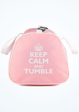 Sac fourre-tout Keep Calm and Tumble de Tappers & Pointers Rose avant. [Rose]
