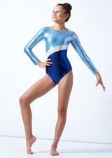 Justaucorps de gymnastique pour filles Tappers & Pointers GYM10 Bleue  Avant-1 [Bleue ]