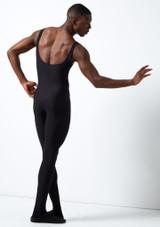 Combinaison unisexe stretch sans manches Grishko noir arriere. [Noir]