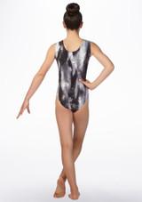 Justaucorps gymnastique imprime Alegra Halo Noir-Gris arriere. [Noir-Gris]