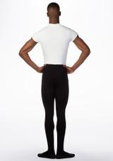 Combinaison bicolore manches courtes pour hommes Ballet Rosa Noir-Blanc arriere. [Noir-Blanc]