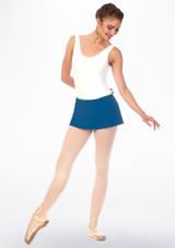 Jupe courte danse classique a enfiler Grishko Bleue avant. [Bleue]