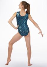Justaucorps gymnastique sans manches Hydra Alegra Bleue arriere. [Bleue]