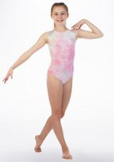 Justaucorps gymnastique sans manches Ripple Alegra Rose arriere. [Rose]
