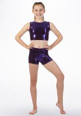 Short de gymnastique Alegra Violet avant #2. [Violet]
